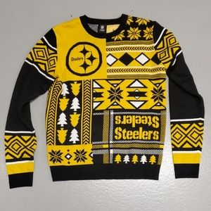 Pittsburgh Steelers holiday sweater medium